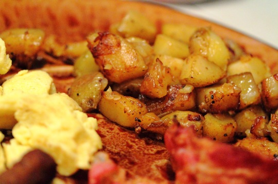 Pan Fries with Eggs and Bacon